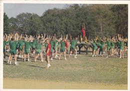 Warm Up Excercise Marine Corps Recruit Depot Parris Island South Carolina Uniform Postcard (U14636) - Regiments