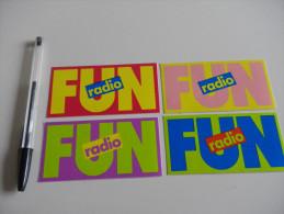 Autocollant - RADIO FM  - FUN X4 - Adesivi