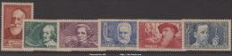 Série Chômeurs Intellectuels De 1938 Neuf * TB ( Y&T N° 380 à 385, Cote 45€) - Nuovi