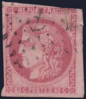 80c Bordeaux Oblitération Ancre à -30€ ! (Dallay N° 49, Cote 500€Â€) - 1870 Emission De Bordeaux