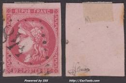 *PROMO* 80c Bordeaux Rose Foncé TB Signé JF BRUN  (Dallay N° 49c, Cote 400€Â€) - 1870 Emission De Bordeaux