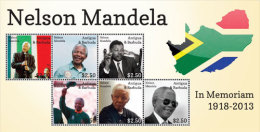 Antigua Barbuda-Famous People-President Nelson Mandela In Memoriam - Célébrités