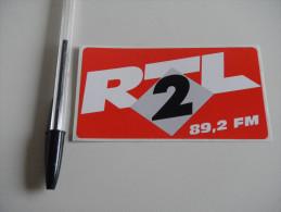 Autocollant - RADIO FM  - RTL2 - Stickers