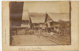 Photo Sur CP Village Haut Laos Choisy Le Roi Tramway ELD Colonial Enlaçant Congai - Laos