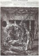 Gravure Ancienne  1876 La Catastrophe Du Puits Jabin  2 Houillere De Saint Etienne  Charbon Mine Mineur   Houilleres - Oude Documenten
