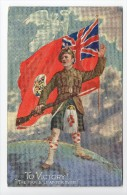 CPA Militaria Patriotique Anglaise Ecossais To Victory ! The Mapple Leaf For Ever / Rare / British / Scottish / WW1 - Patrióticos