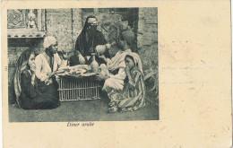 """AF 1 - CPA EGYPTE """"Diner Arabe""""  Expédiée De Tanta Pour Lyon En 1900 - Tanta"""