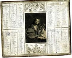 CALENDRIER 1852 SAINT JEAN  FORMAT 25 X 20 CM DOS VERT - Calendari