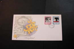 Swaziland Queen Elizabeth II 60th Birthday Pair With Day Of Issue Cancel 1986 A04s - Swaziland (1968-...)