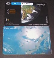 GREECE PHONECARD SPACE PLANETARIUM 5-X1564  - 250000pcs-12/02-USED - Espacio