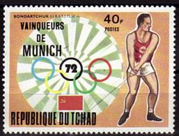 TCHAD    N° 280   * *  Jo 1972  Lancer Du Marteau - Athletics