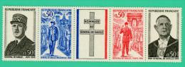 France - Hommage Au Général De Gaulle - Bande 4X 0,50 - Neuf - Usage Courant