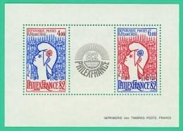 France - Philex 1982 - 6 Et 4 Fr. - Neuf - Stamp Day