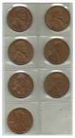 UNITED STATES - 7 Coins 1 Cent - 1964 D, 1967, 1967, 1969 D, 1970 D, 1973, 1979 - Used - Émissions Fédérales