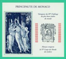 Monaco - Le Printemps - 15,00 Francs - 4è Coupe Du Monde Vainceur 111è Challenge -  Neuf - Monaco