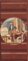 Chromo Tablette De Chocolat Devinck Yacht Vapeur Capitaine - Unclassified