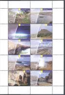 CURACAO,2013,MNH,TOURIST SITES, MOUNTAINS, BRIDGES, BEACHES, SHEETLET OF 10v - Islands