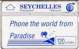 @+ Seychelles - Paradise 120U (Bleu) - Serie 105H... - Ref : SEY-12 - Seychelles