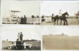 133 Jpx  03 Vichy Le Champ De Courses Hippiques Lot De 4 Photos En 1933 - Vichy