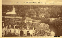 CPA (91)STE GENEVIEVE DES BOIS    Panorama  Vue D Ensmble  Pris Du Donjon - Sainte Genevieve Des Bois