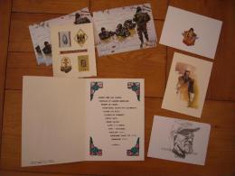 Lot De 9 Documents De La Légion Etrangère France St Sylvestre Menu Cartes A Voir - Documentos