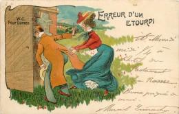 Réf : TO-14 -0152  : Erreur D'un Etourdi  ( Urinoir, Scatologie, Vespasiennes, Latrines, Water-closed)) - Humour