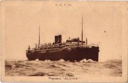 PAQUEBOT-ALSINA- SOCIETE GENERALE DE TRANSPORTS MARITIMES A VAPEUR - Paquebots