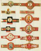 12 Alte Zigarrenbanderolen - Bauchbinden Der Zigarrenmarke Alto - Bauchbinden (Zigarrenringe)