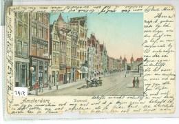 DAMRAK * AMSTERDAM * ANSICHTKAART * CPA * GELOPEN In 1901 Naar MAASTRICHT  (2917) - Amsterdam