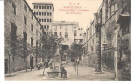 POSTAL     BARCELONA -   (ESPAÑA)  PLAZA DEL REY - COLUMNA DE HÉRCULES - - Barcelona