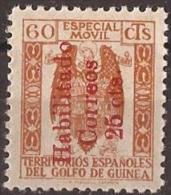 GUI259F-L4129TO.Guinee .GUINEA   ESPAÑOLA.FISCALES .1939/41.(Ed  259F).sin Goma.RARO.MAGNIFICO - Francobolli