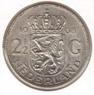 @Y@  Nederland  2 1/2 Gulden  / Rijksdaalder   1966  UNC  Ag    (2677) - [ 3] 1815-… : Kingdom Of The Netherlands