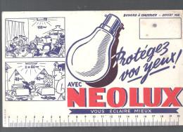 Buvard. NEOLUX Protégez Vos Yeux! Avec NEOLUX Vous éclaire Mieux - Electricité & Gaz