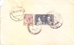 Straits Settlements Malaya 1937 Cover Booked From Malacca To Kothamangalam, India Via Calcutta Gpo D.b.n. - Maleisië (1964-...)