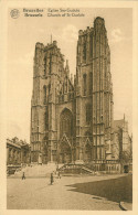 Alte Ansichtskarte Aus Belgien Mit Dem Motiv: Bruxelles - Eglise Ste-Gudule - Monuments, édifices