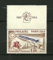 FRANCE 1964 N°1422 Exposition Philatélique Internationale PHILATEC à Paris NEUF - Neufs