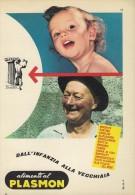 # ALIMENTI AL PLASMON  BABY FOOD 1950s Advert Pubblicità Publicitè Reklame Pasta Biscuits Cream Oil - Affiches