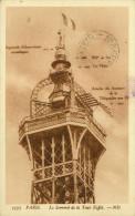 Alte Ansichtskarte 3375 Paris. Le Sommet De La Tour Eiffel. --ND - Tour Eiffel