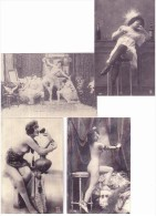 """CPM - Lot De 4 REPRODUCTIONS - Femmes Dénudées - Série """"Cartes D´Autrefois"""" - Nus Adultes (< 1960)"""