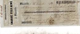 1852 MARSIGLIA - Cheques & Traverler's Cheques