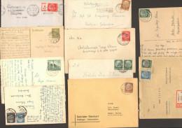 DR Sammlung Von 17 Belegen Aus Ca. 1933-1944 , überwiegend Hindenburg-Marken 2 Bilder - Deutschland