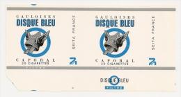 Tabac SEITA Emballage Papier Cigarette Disque Bleu  Neuf Non Plié - Empty Cigarettes Boxes