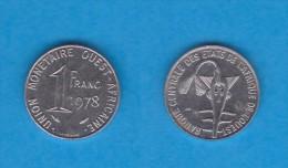 Africa Del Oeste (Estados) (West African States) 1 Franco 1.978 Acero/Steel MBC/VF  KM#8  DL-10.760 - Otros – Africa