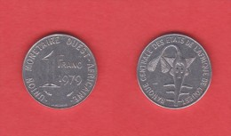 Africa Del Oeste (Estados) (West African States) 1 Franco 1.979 Acero/Steel MBC/VF  KM#8  DL-10.761 - Monedas