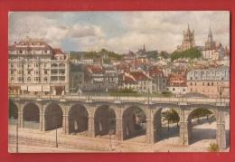 CVD-62 Lausanne   Grand-Pont. Cathédrale. Cachet 1925 Vers Bellagio Près Como - VD Vaud