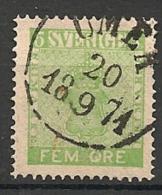 Suède Sverige. 1858.  N°  6 . Oblit. - Oblitérés