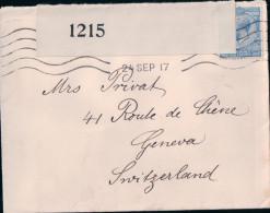 Lettre Censor GB - Genève CH (1215) - Great Britain