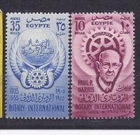 Egypt1955: UAR 484-5mnh** ROTARY CLUB - Rotary, Lions Club