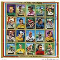 AJMAN  Bloc Feuillet: 20 Vainqueurs Du Tour De France - Ciclismo