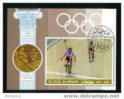 AJMAN  Vainqueurs Cyclisme (Tandem) Winners Tandem Cycling - Summer 1968: Mexico City